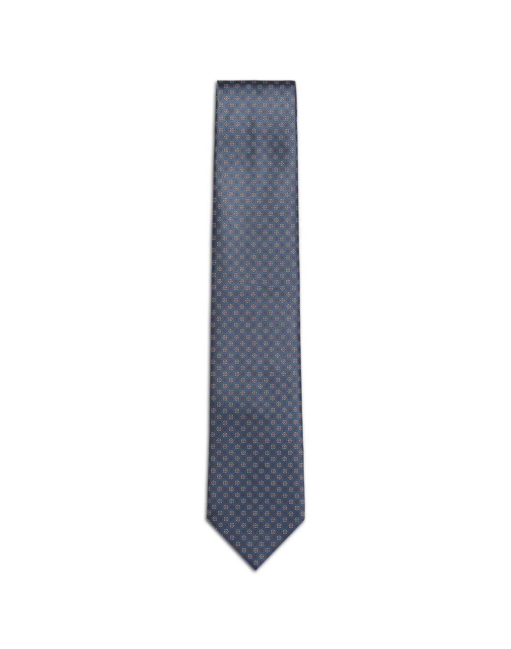 BRIONI Cravatta Bluette con Microfantasia Cravatta Uomo f