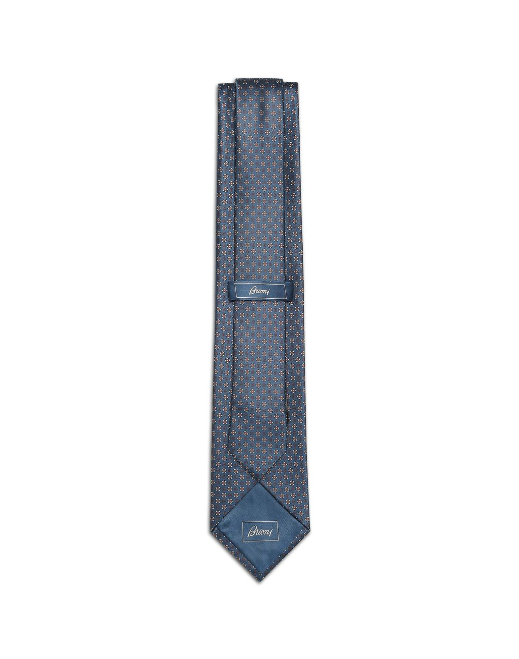 BRIONI Blaue Krawatte mit Micro-Muster Krawatte [*** pickupInStoreShippingNotGuaranteed_info ***] r