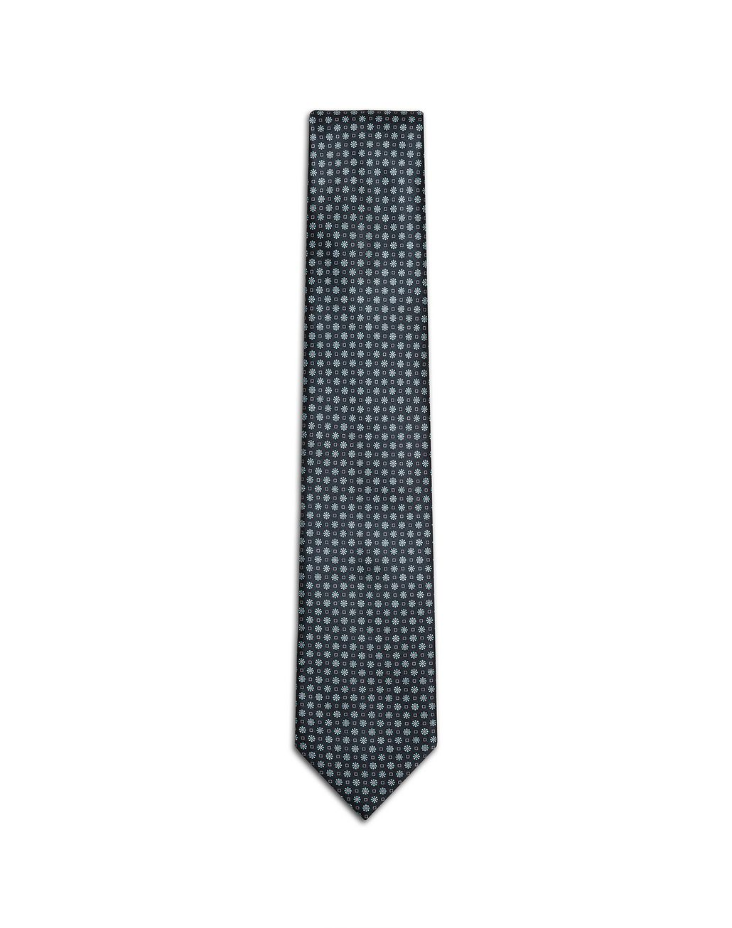 BRIONI Navy Blue Micro-Designed Tie Tie [*** pickupInStoreShippingNotGuaranteed_info ***] f
