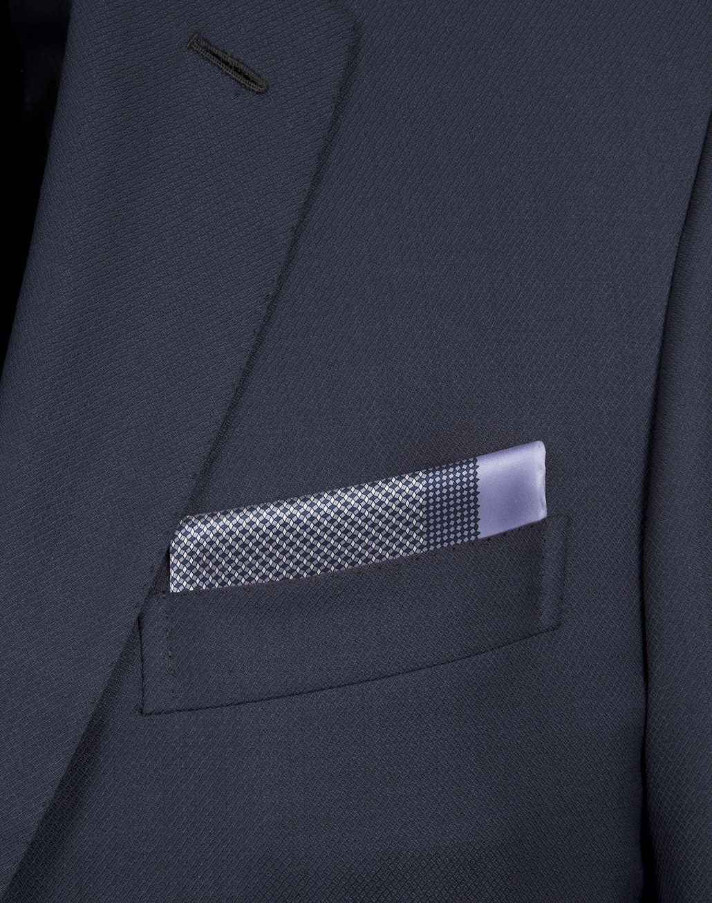 BRIONI Lilac and Navy Blue Micro-Designed Pocket Square Pocket Square Man d