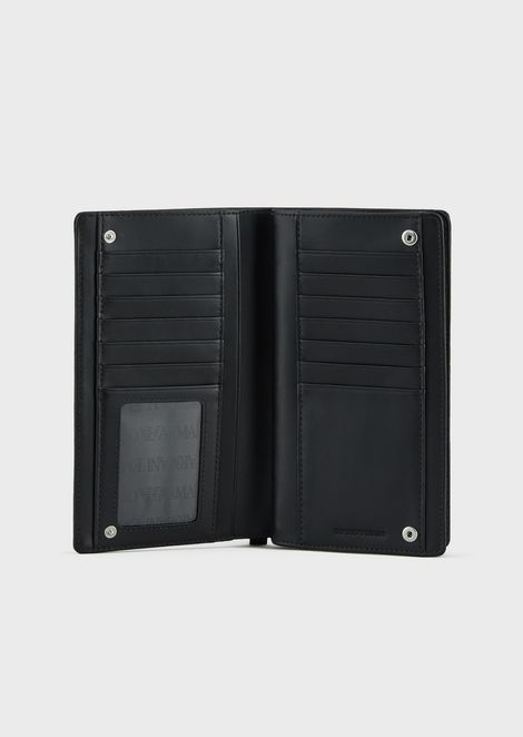 LEATHER WALLET WITH ALL OVER LOGO