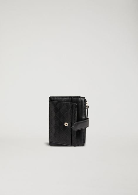 LEATHER CARDHOLDER WITH ALL OVER LOGO