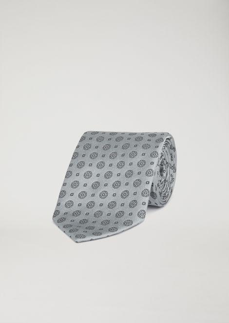 Cravate en satin avec motif géométrique