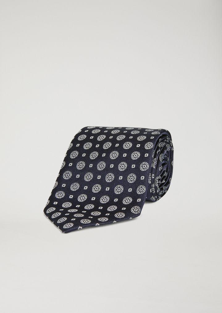 Corbata de raso con motivo geométrico  af602d90e33