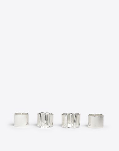 MAISON MARGIELA Ring D Set of 4 brass rings f