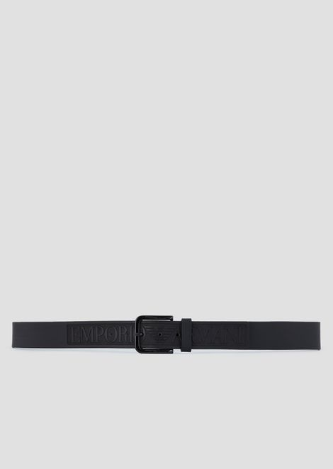 LEATHER BELT WITH MAXI LOGO
