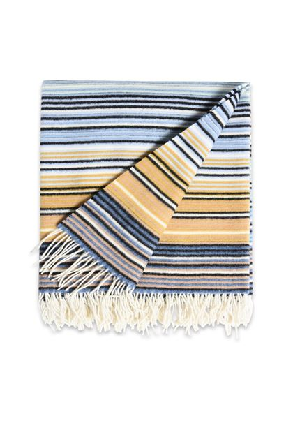 MISSONI HOME TAZIO PLAID Celeste E - Retro