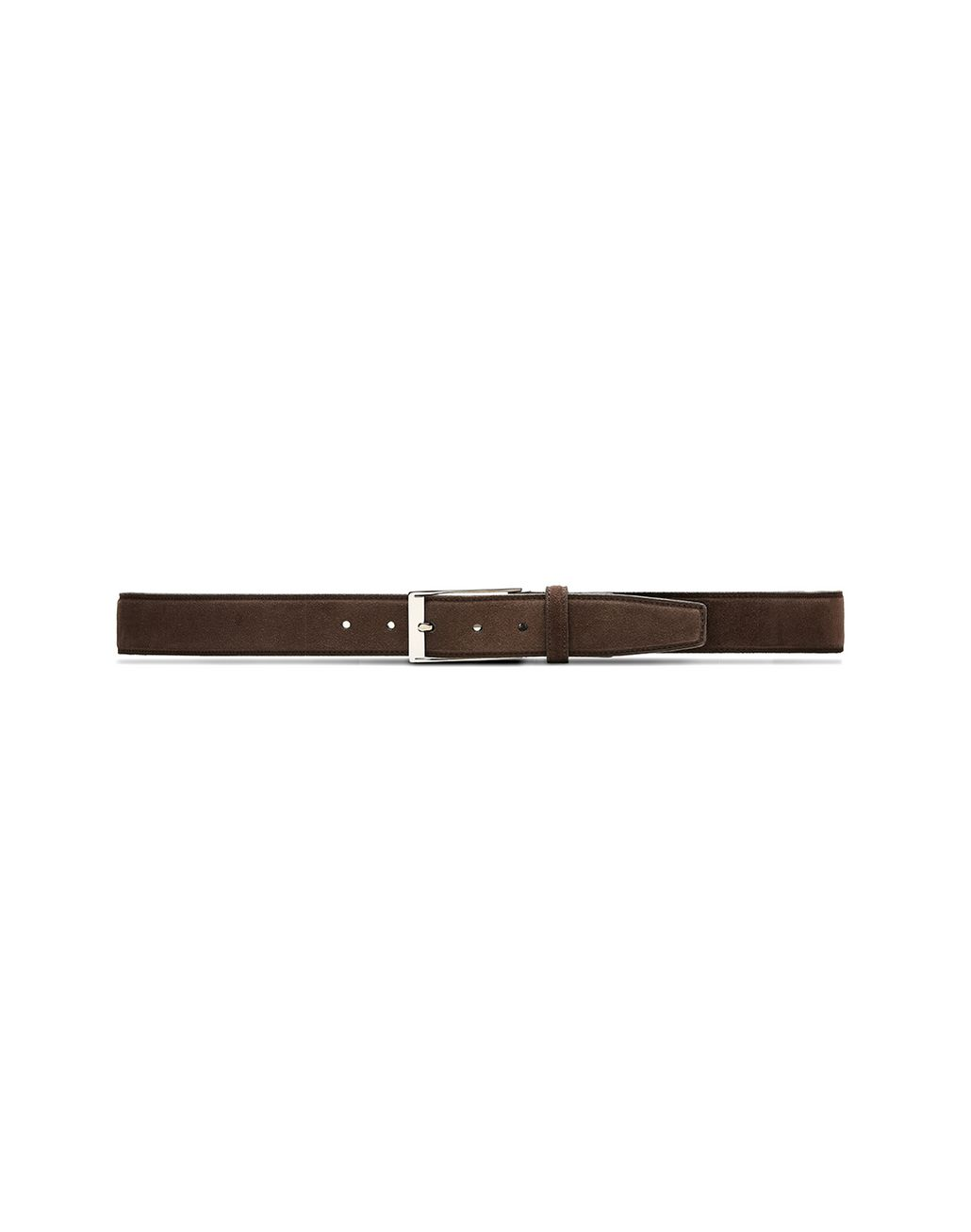BRIONI Chocolate Adjustable Belt in Velour Belt Man f