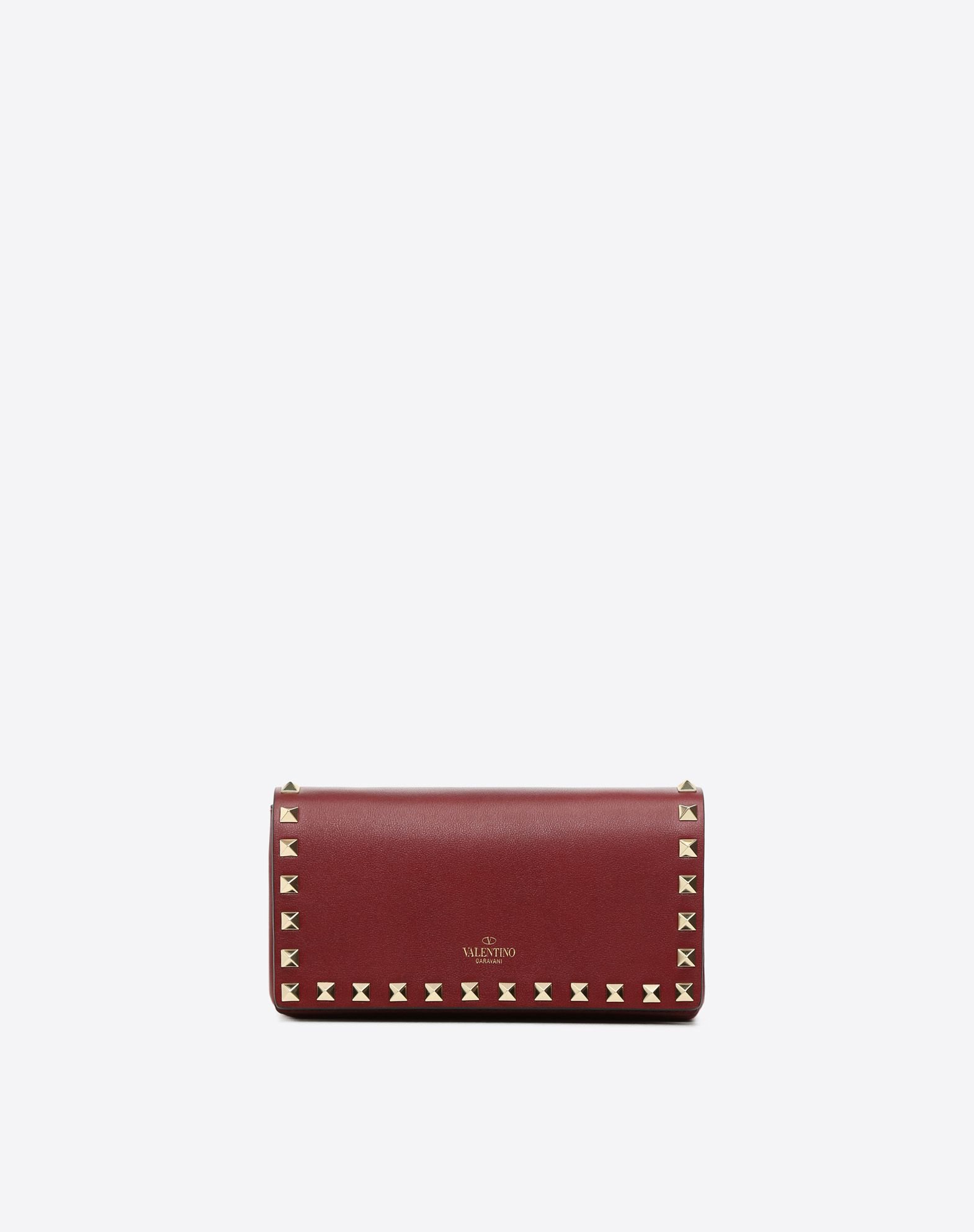 VALENTINO Studs Solid color Magnetic fastening Internal pocket Metallic straps  46561076bf