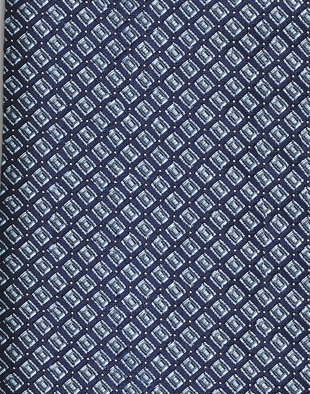BRIONI Navy Blue and Bluette Designed Tie Tie Man d