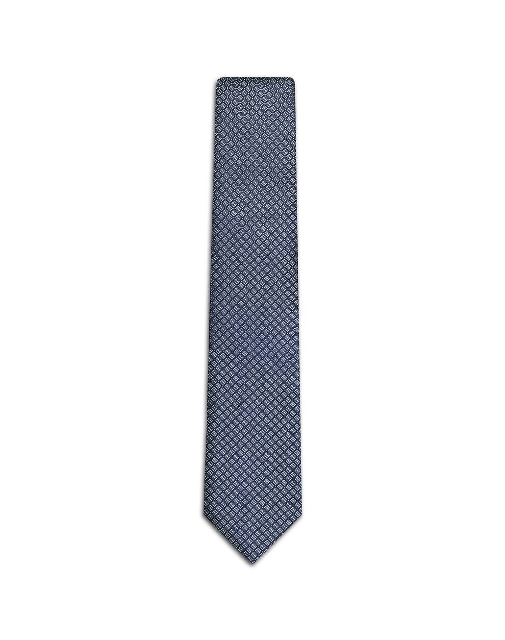 BRIONI Navy Blue and Bluette Designed Tie Tie [*** pickupInStoreShippingNotGuaranteed_info ***] f
