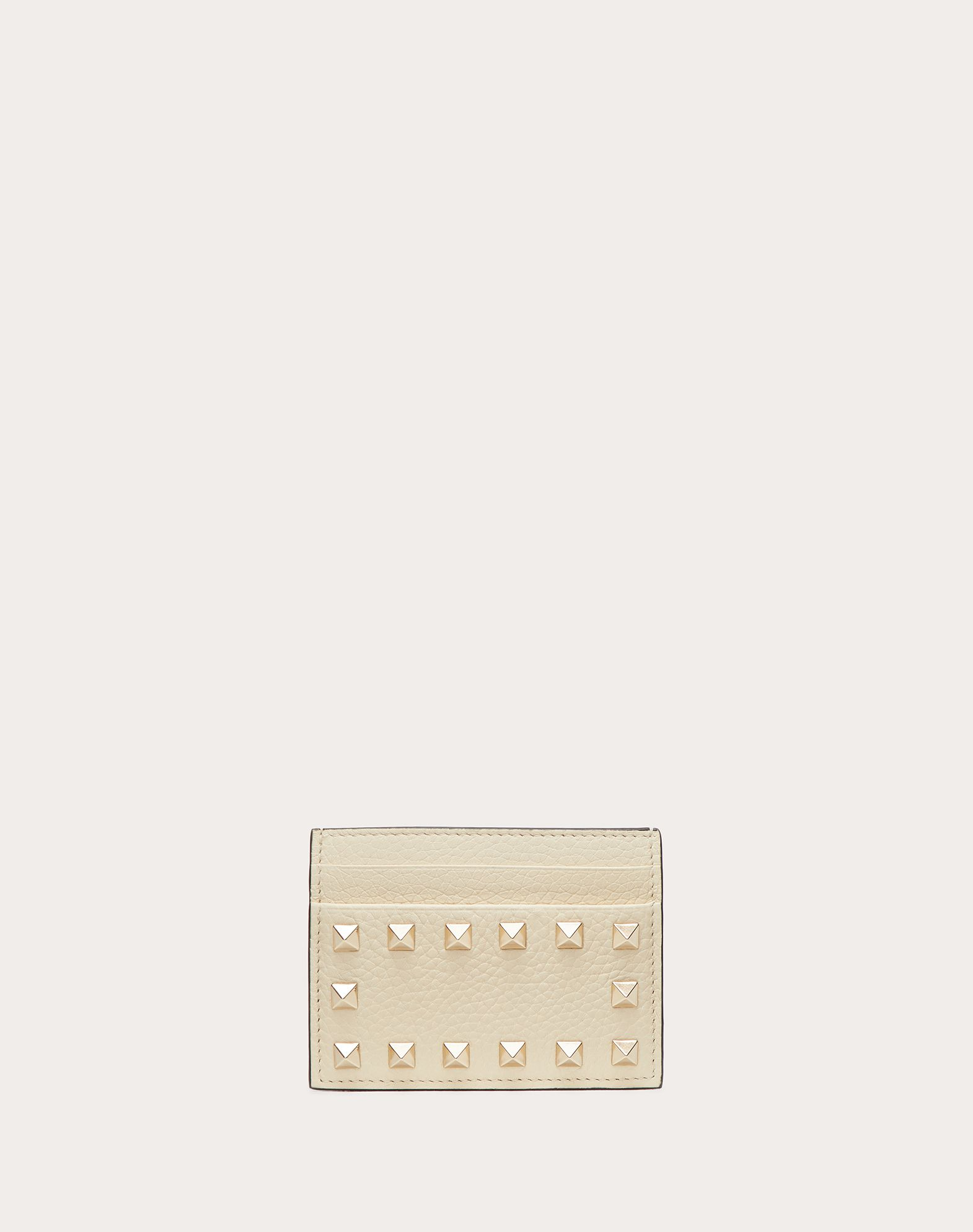 VALENTINO Textured leather Studs Solid colour  46561735go