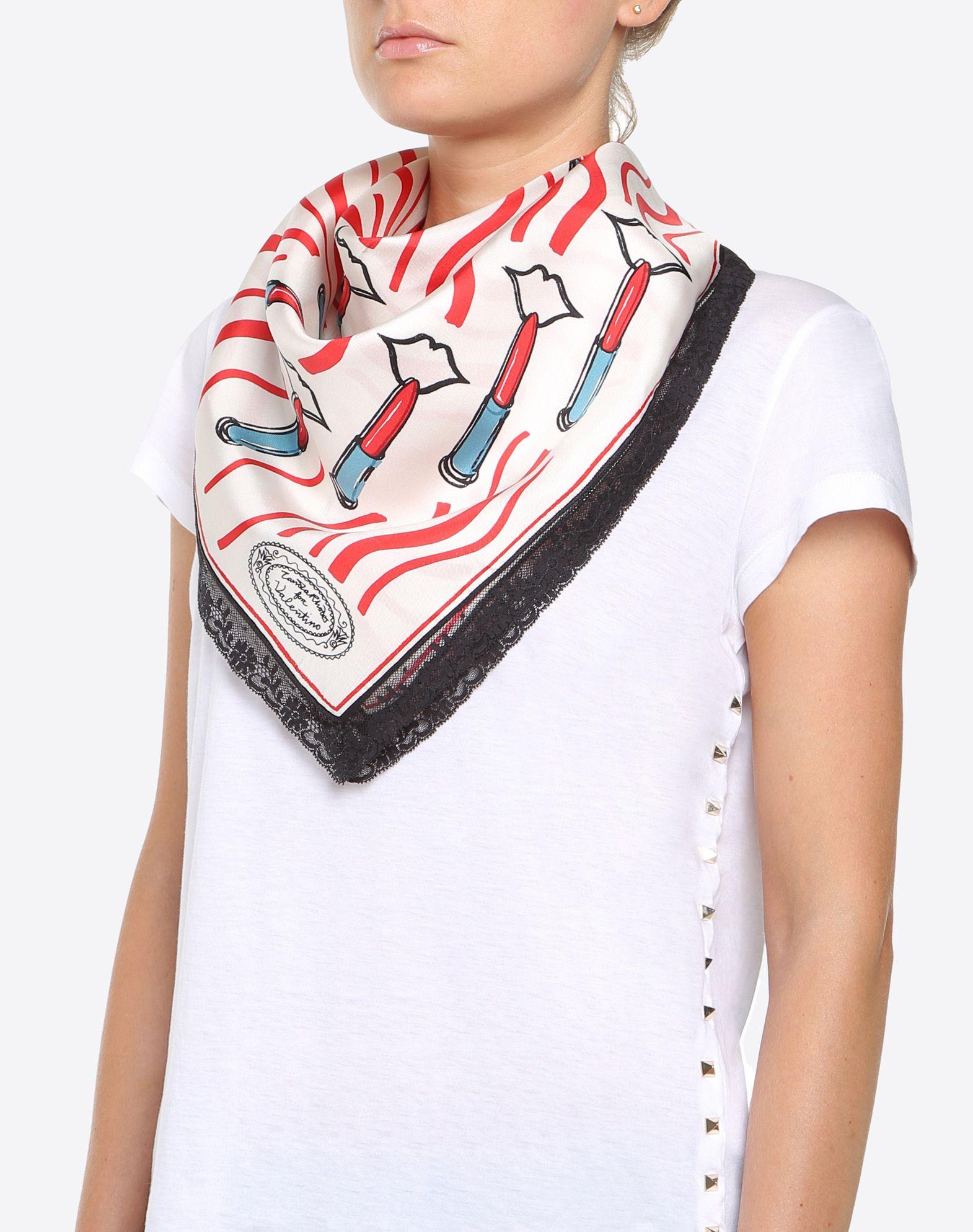 Printed scarf Valentino r92c6