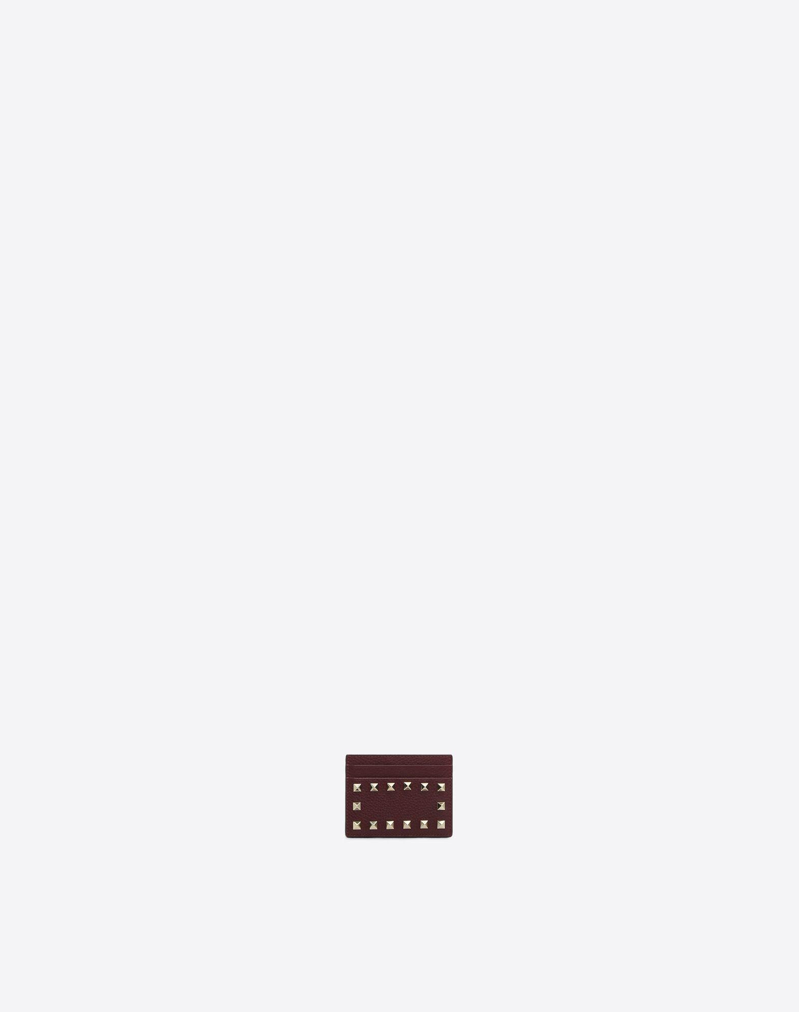 Valentino Garavani - Porte-cartes en cuir Rockstud WQRAI