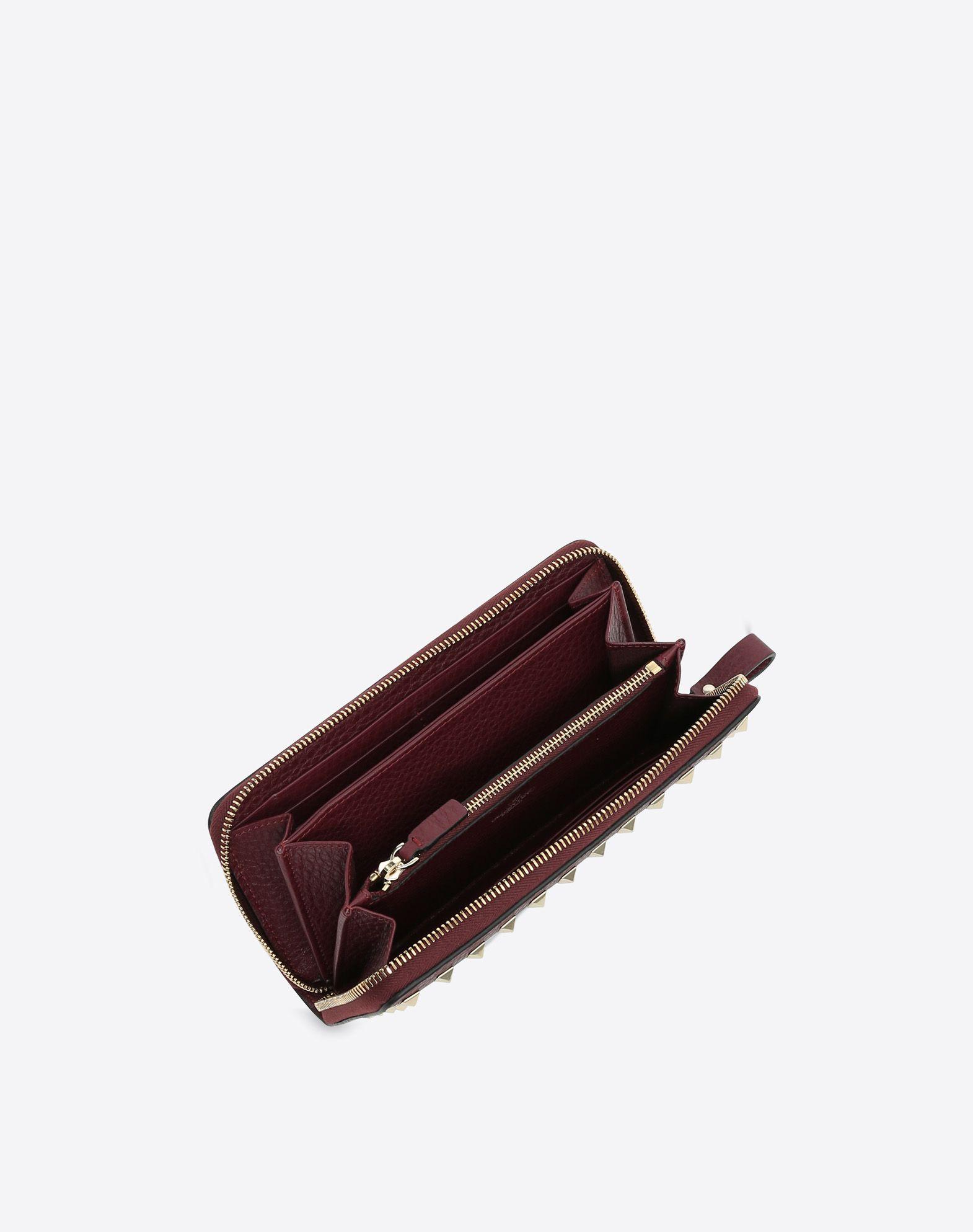 VALENTINO GARAVANI Rockstud Wallet ZIP AROUND WALLETS D a