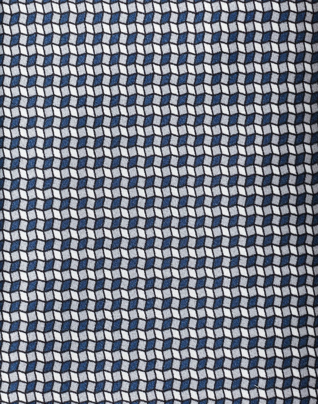 BRIONI Grey and Navy Blue Micro-Designed Tie Set Tie & Pocket Square [*** pickupInStoreShippingNotGuaranteed_info ***] d