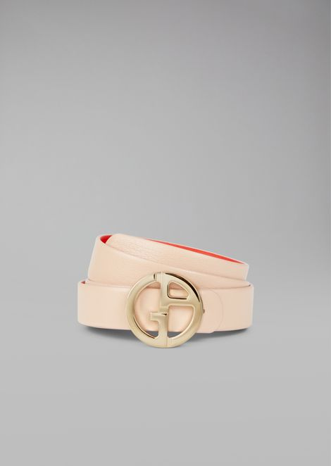 Reversible belt with logo