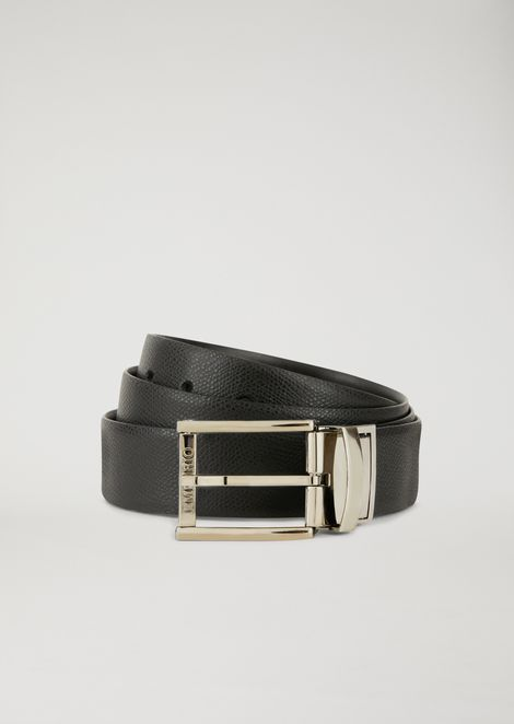 REVERSIBLE PRINTED LEATHER BELT
