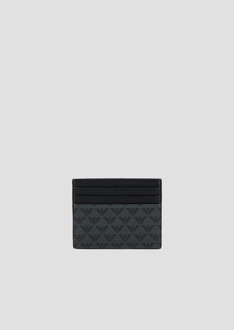 Men s card holders emporio armani card holder in pvc with all over logo colourmoves