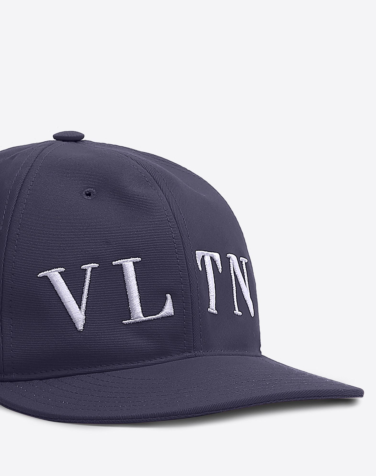 Logo-embroidered canvas cap Valentino