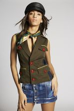 DSQUARED2 Bad Scout Compass Silk & Woven Foulard Foulard Man