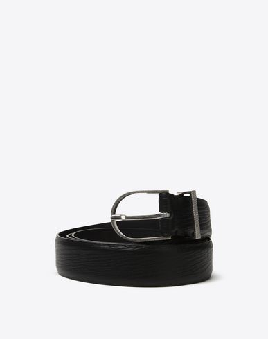 MAISON MARGIELA Belt Man Textured calfskin belt f