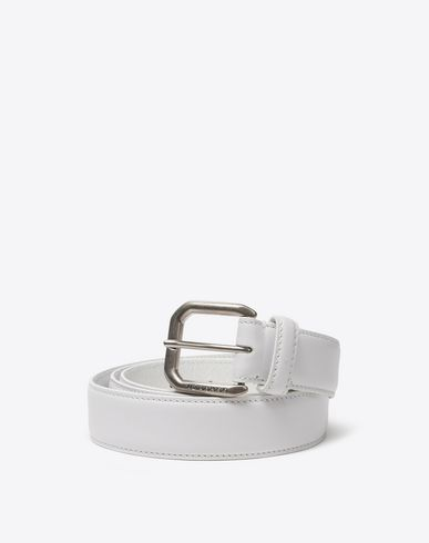 MAISON MARGIELA Belt U Thin calfskin belt f