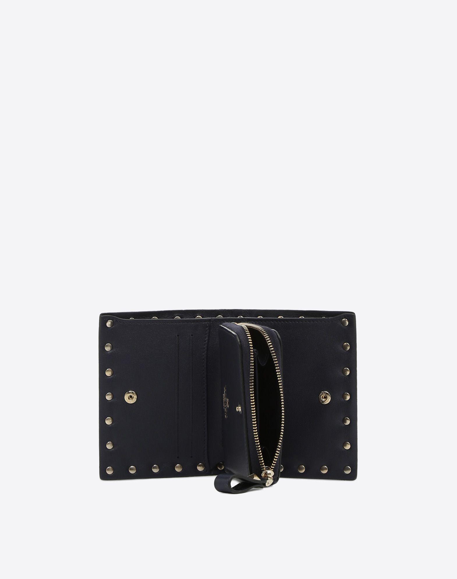VALENTINO GARAVANI Compact Rockstud Wallet COMPACT WALLETS D a