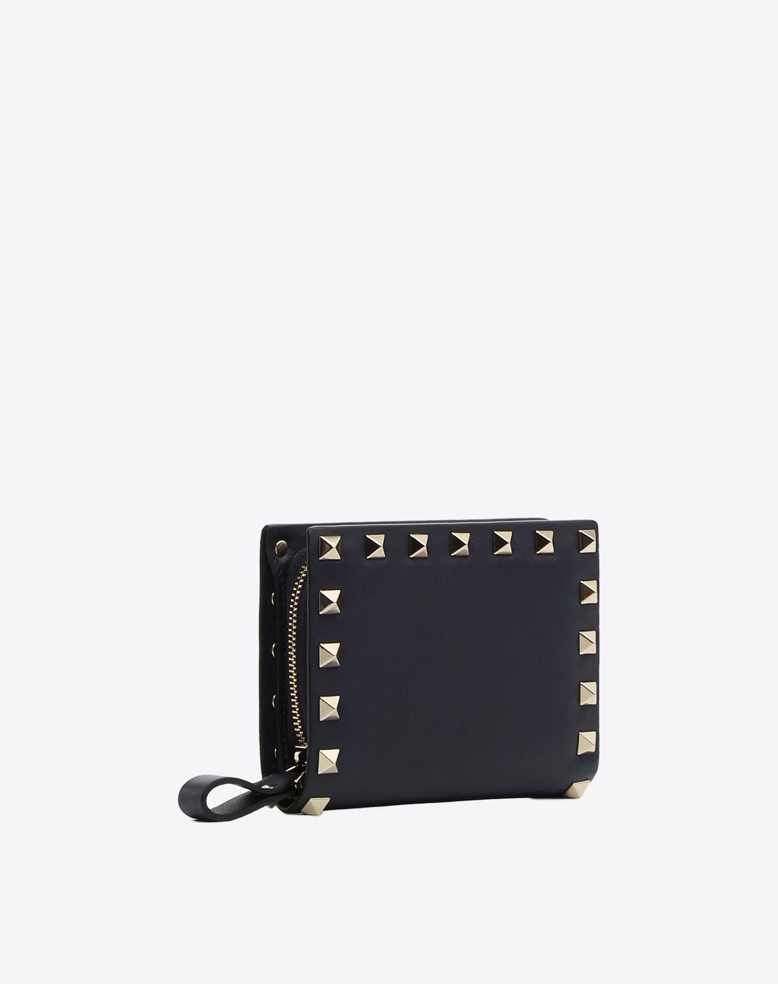 Valentino Garavani Rockstud compact wallet - Black Valentino 04mjTS