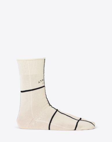 "MAISON MARGIELA Half chaps U Two-tone ""Atelier"" print Tabi socks f"