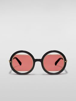 Marni Marni SUNRISE sunglasses in black acetate Woman