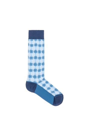 Marni Sock in cotton jacquard vichy blue Woman