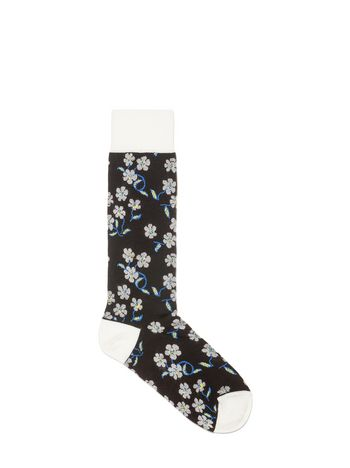 Marni Sock in cotton jacquard floral pattern Woman