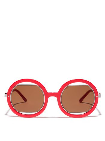 Marni Marni SUNRISE sunglasses in coral acetate Woman