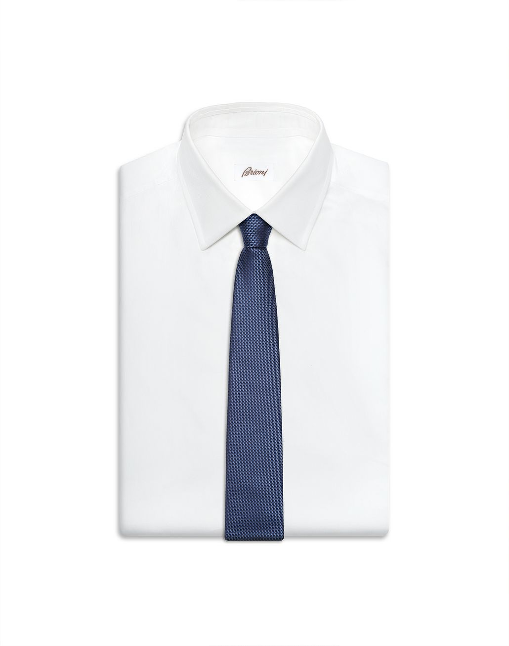 BRIONI Limited Edition Blue Micro-Design Tie Tie Man e
