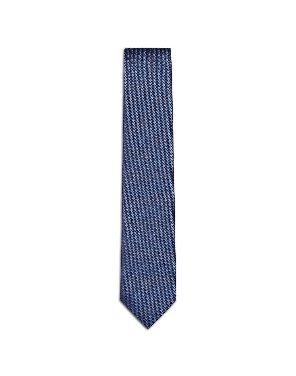 BRIONI Limited Edition Blue Micro-Design Tie Tie Man f