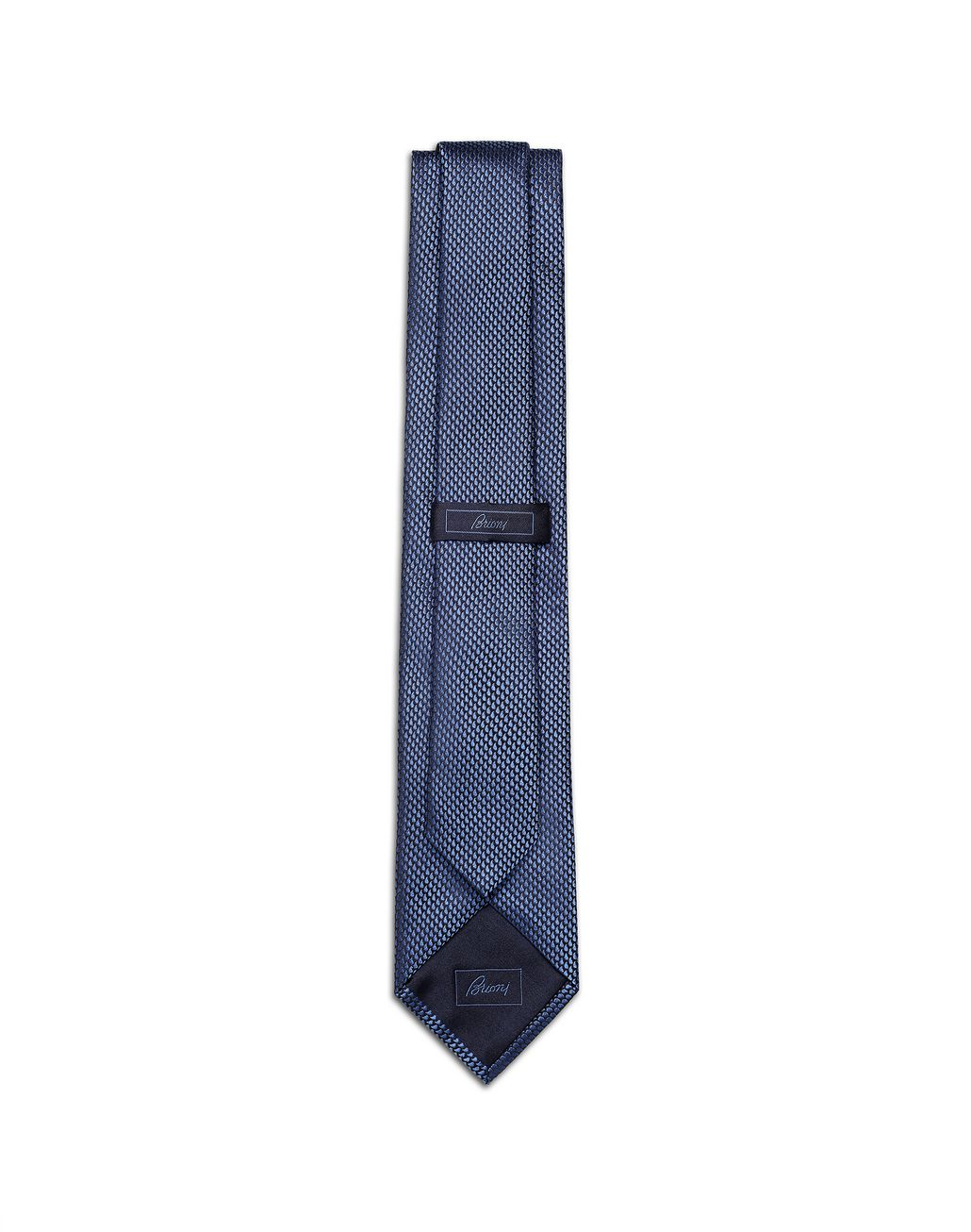 BRIONI Limited Edition Blue Micro-Design Tie Tie Man r