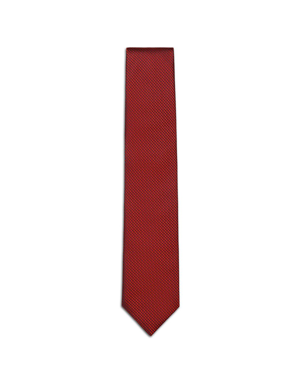 BRIONI Limited Edition Red Micro-Design Tie Tie Man f