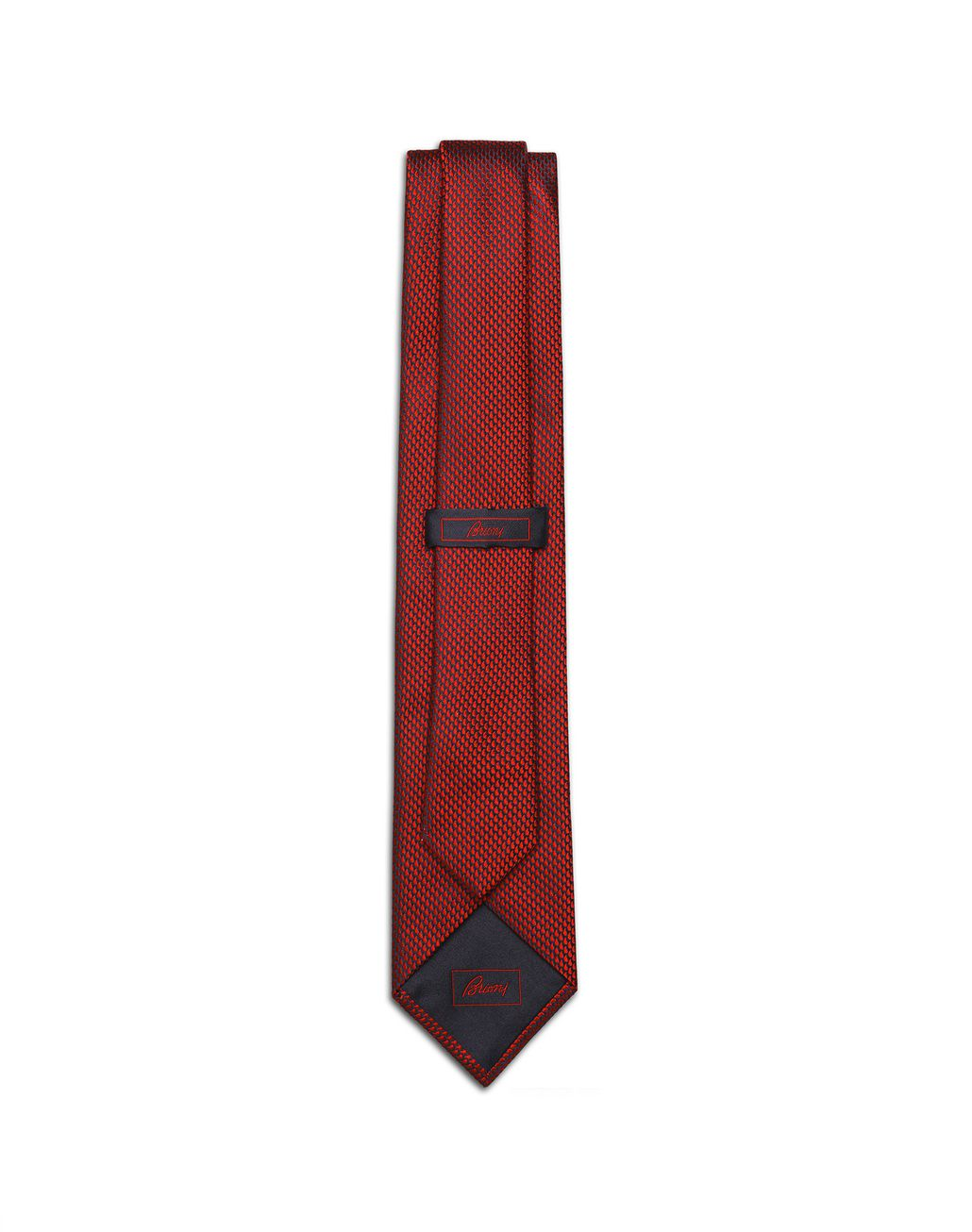 BRIONI Limited Edition Red Micro-Design Tie Tie Man r