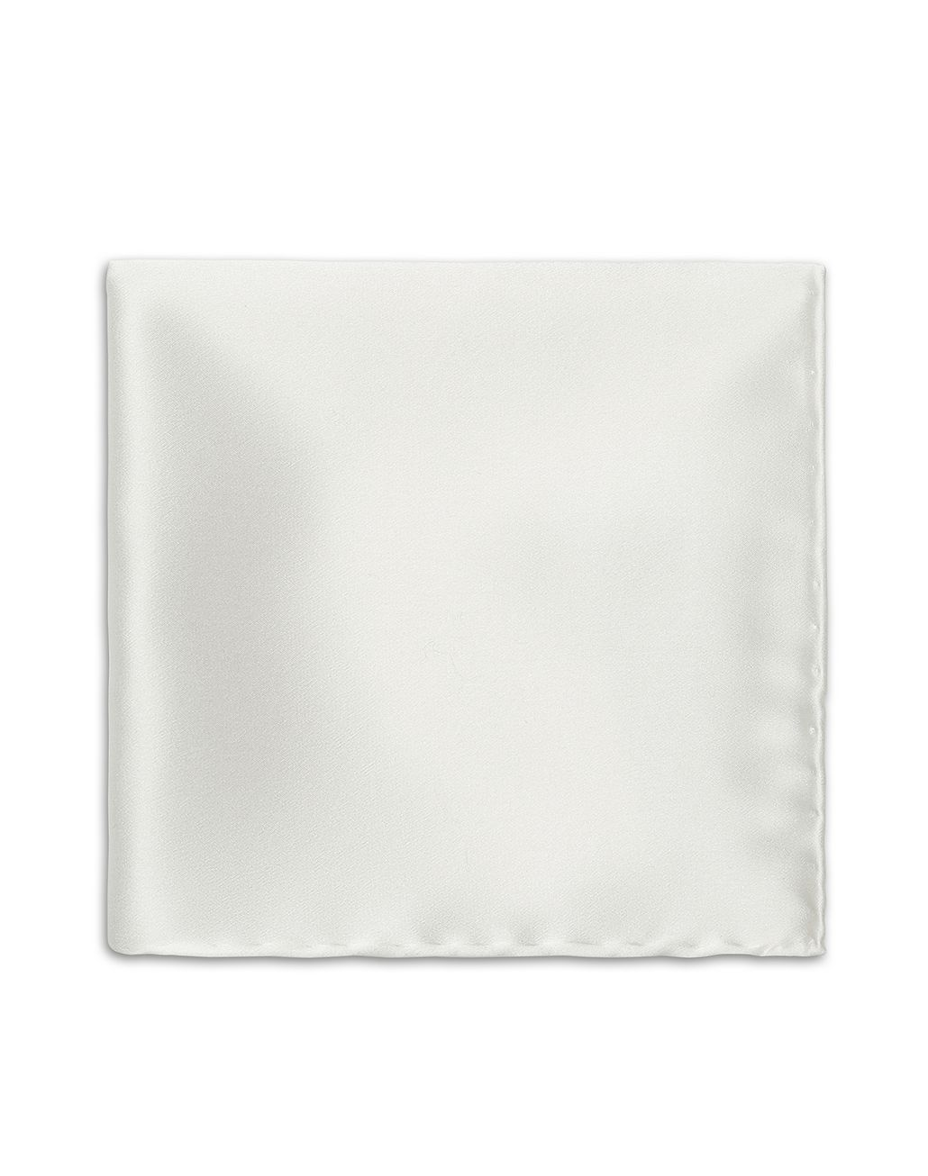 BRIONI White Hand Rolled Pocket Square Tie & Pocket Square [*** pickupInStoreShippingNotGuaranteed_info ***] r