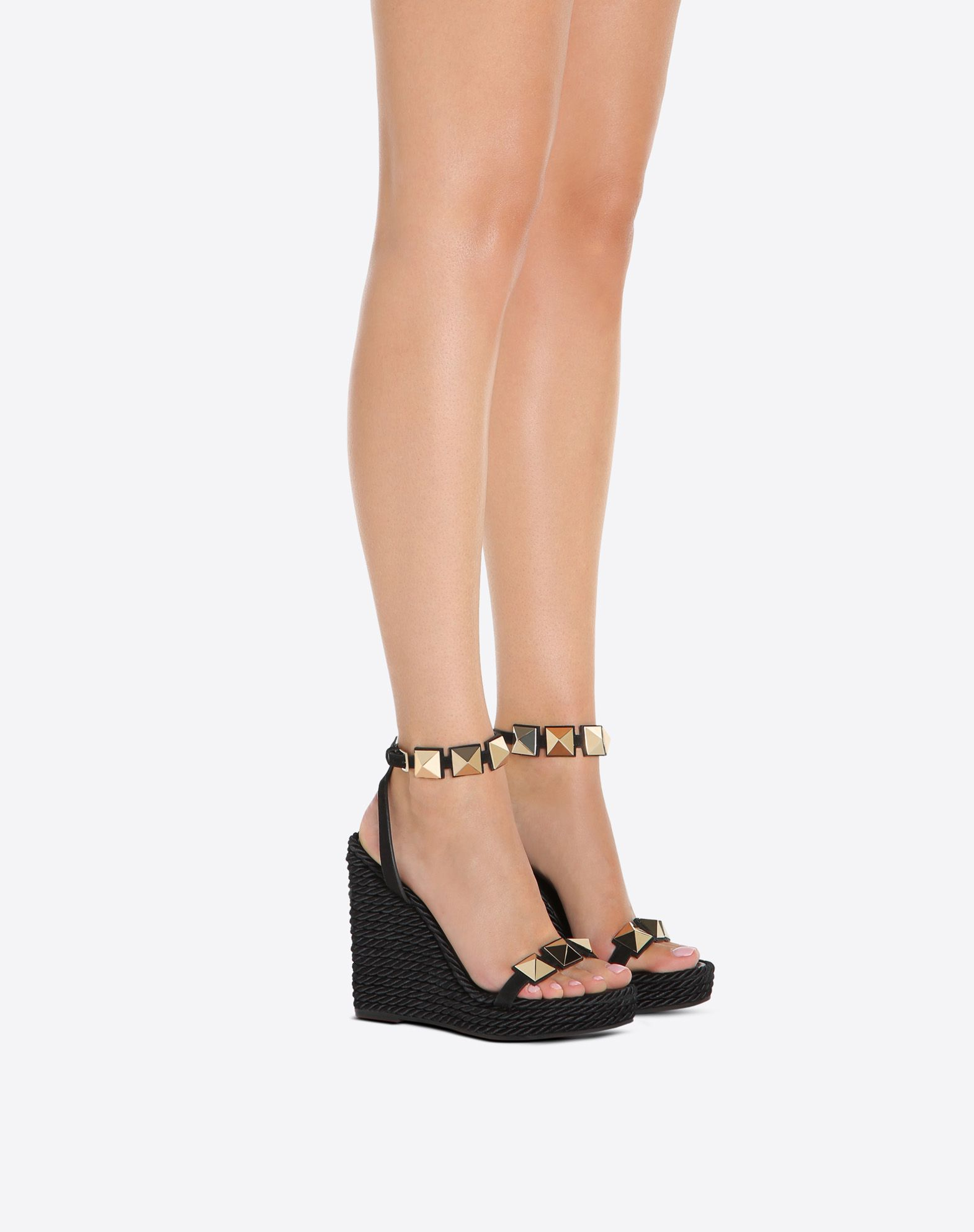 Valentino Ankle Strap Leather Wedges for nice sale online outlet sast cheap cost cheap explore amazing price for sale DLPXz0F82D