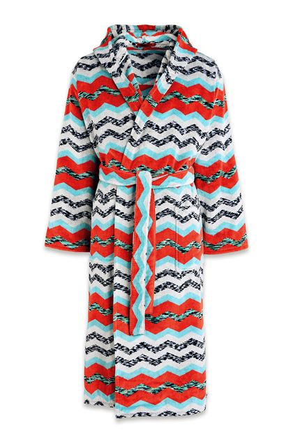 MISSONI HOME VICTOR BATHROBE Light grey E - Back