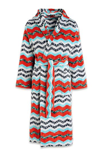 MISSONI HOME Towelling robe E VICTOR HOODED BATHROBE m