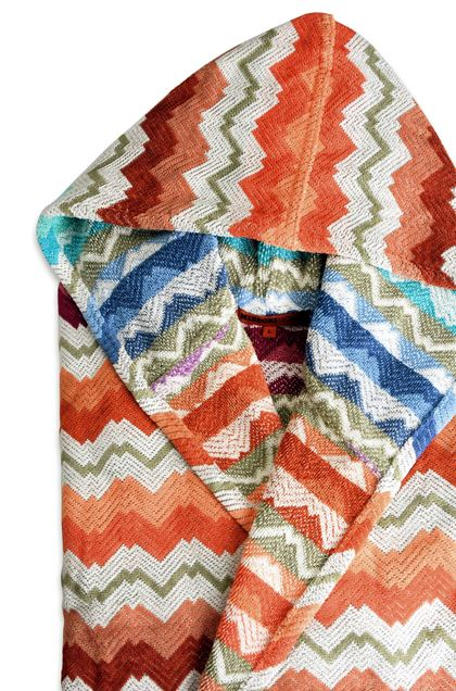 MISSONI HOME Towelling robe E VICTOR HOODED BATHROBE b