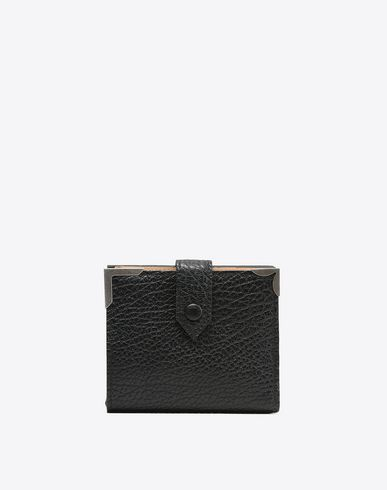 MAISON MARGIELA Wallet Woman Calfskin wallet with button closure f