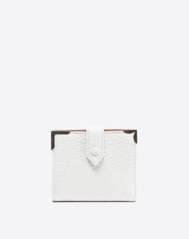 MAISON MARGIELA Wallets Woman Calfskin wallet with button closure f