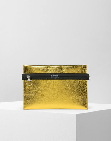 MM6 MAISON MARGIELA Metallic zip pouch Document holder D f