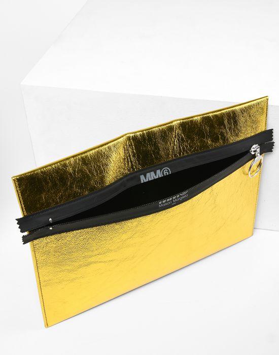 MM6 MAISON MARGIELA Metallic zip pouch Document holder Woman d