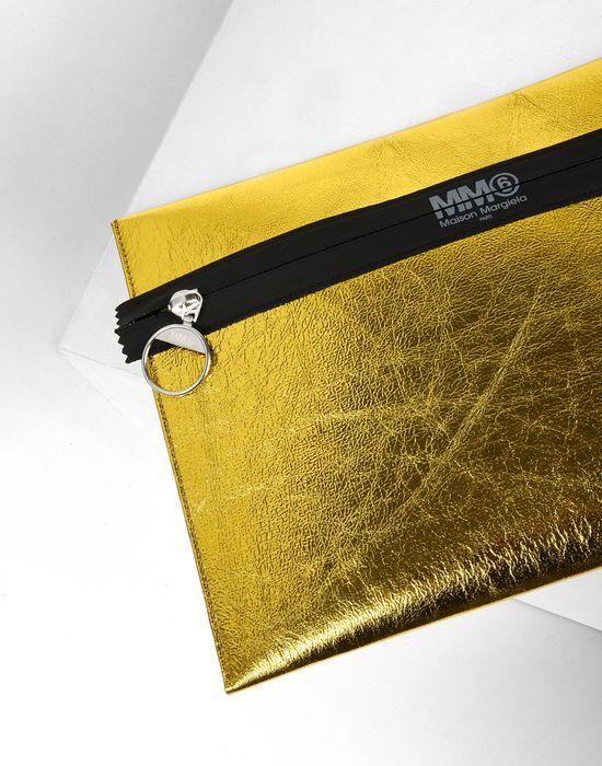 MM6 MAISON MARGIELA Metallic zip pouch Document holder D e