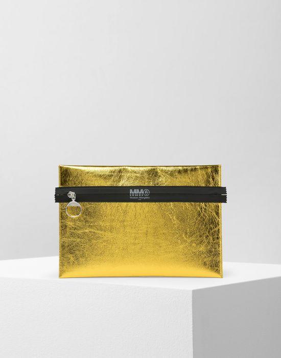 MM6 MAISON MARGIELA Metallic zip pouch Document holder Woman f